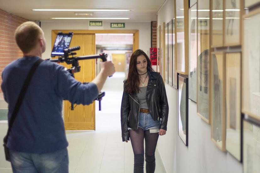 Lucía García Pardo en la Facultad de Bellas Artes