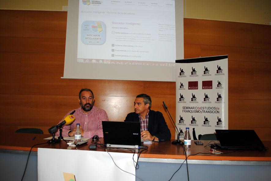 Julián Garde y Manuel Ortiz, en la presentación